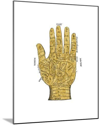 Vintage Palmistry-Oliver Jeffries-Mounted Giclee Print