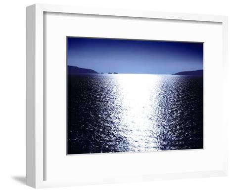 Sunlight Reflection - Blue-Maggie Olsen-Framed Art Print