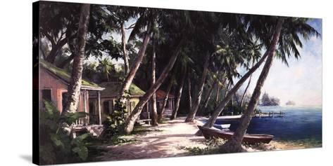 Island Haus Cottages-Art Fronckowiak-Stretched Canvas Print