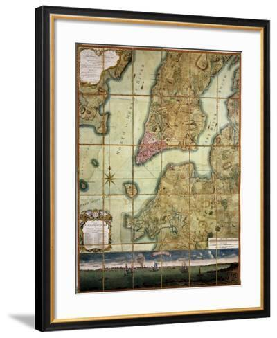 Plan Of The City Of New York-Bernard Ratzer-Framed Art Print
