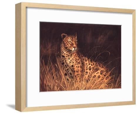 Spotted African Cat--Framed Art Print