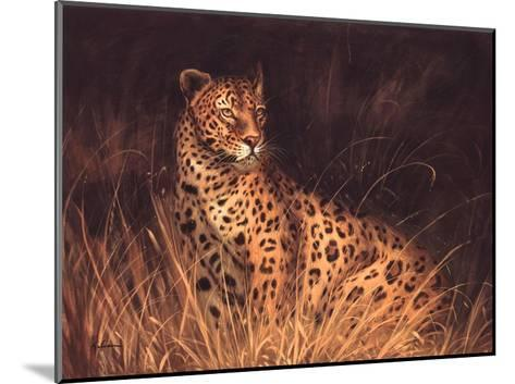 Spotted African Cat--Mounted Art Print