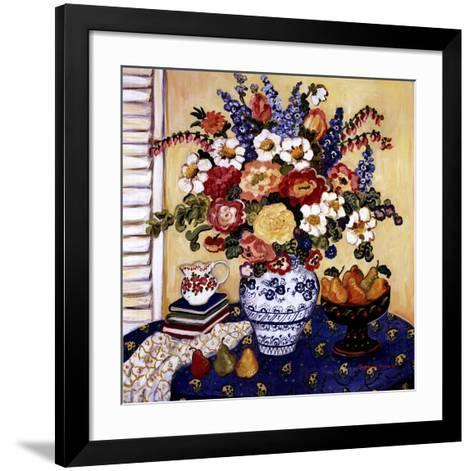 Ann's Favorite Blue And White Floral-Suzanne Etienne-Framed Art Print