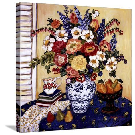 Ann's Favorite Blue And White Floral-Suzanne Etienne-Stretched Canvas Print