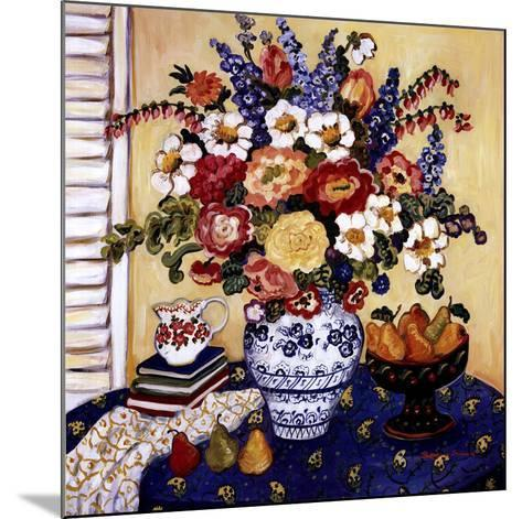 Ann's Favorite Blue And White Floral-Suzanne Etienne-Mounted Art Print