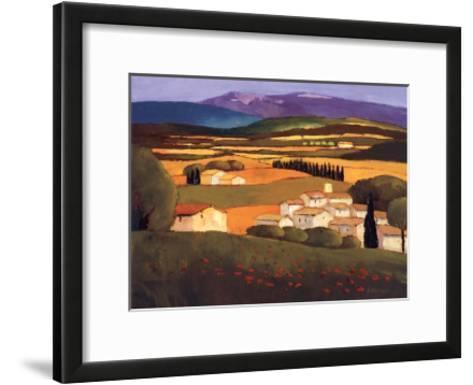 Village au Printemps-Elisabeth Estivalet-Framed Art Print