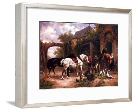 Before The Hunt I--Framed Art Print