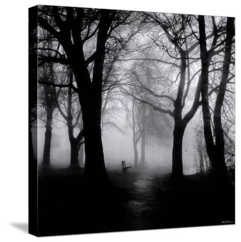 Wooded Bench-Harold Silverman-Stretched Canvas Print