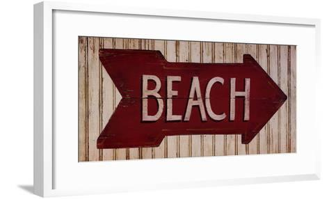 To The Beach--Framed Art Print