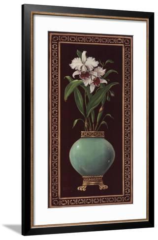 Ginger Jar With Orchids II-Janet Kruskamp-Framed Art Print