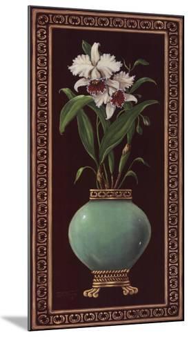 Ginger Jar With Orchids II-Janet Kruskamp-Mounted Art Print