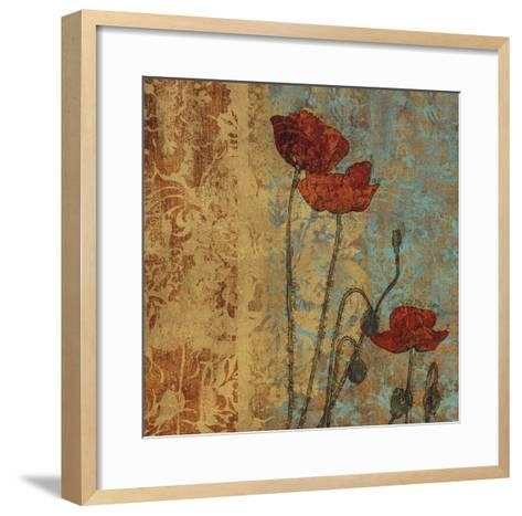 Poppy Pattern I-Eloise Ball-Framed Art Print