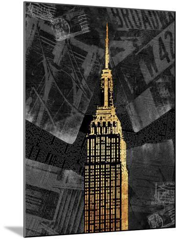 Gold NY-Jace Grey-Mounted Art Print