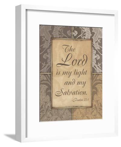 Lord Is My Light V2-Jace Grey-Framed Art Print