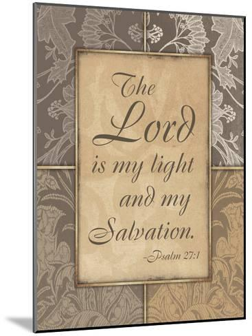 Lord Is My Light V2-Jace Grey-Mounted Art Print