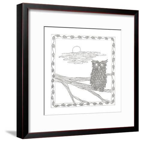 Owl In The Moonlight-Pam Varacek-Framed Art Print