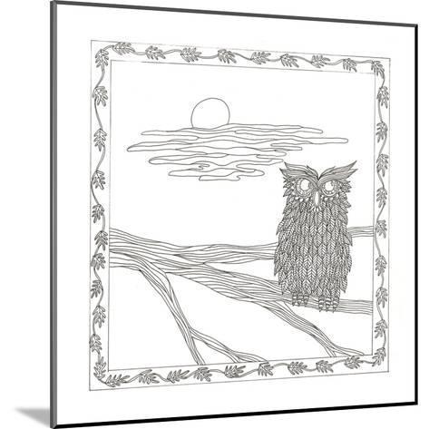 Owl In The Moonlight-Pam Varacek-Mounted Art Print