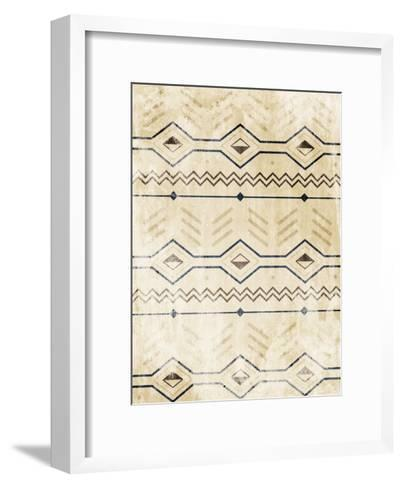 Lodge Patterned-Jace Grey-Framed Art Print