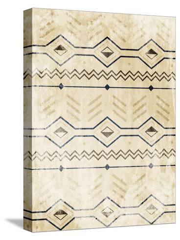 Lodge Patterned-Jace Grey-Stretched Canvas Print