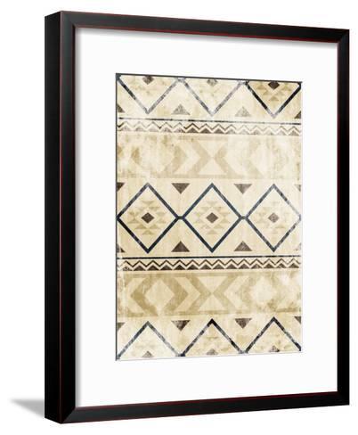 Lodge Patterned Mate-Jace Grey-Framed Art Print