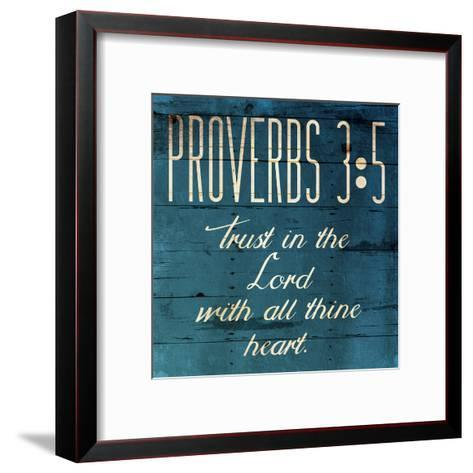 Trust In The Lord Clean-Jace Grey-Framed Art Print