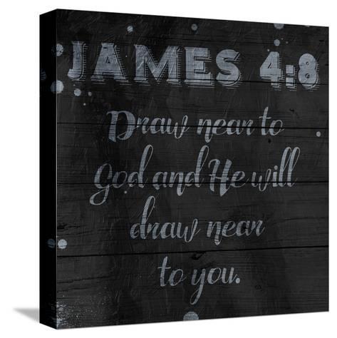 Draw Near-Jace Grey-Stretched Canvas Print