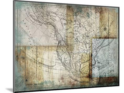 Rustic Map Two-Jace Grey-Mounted Art Print