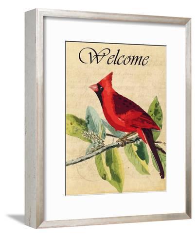 Cardinal Welcome-Kimberly Allen-Framed Art Print