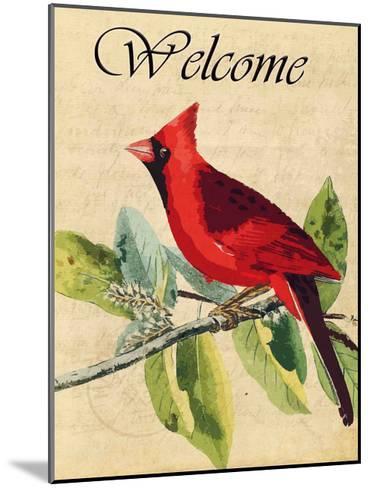Cardinal Welcome-Kimberly Allen-Mounted Art Print