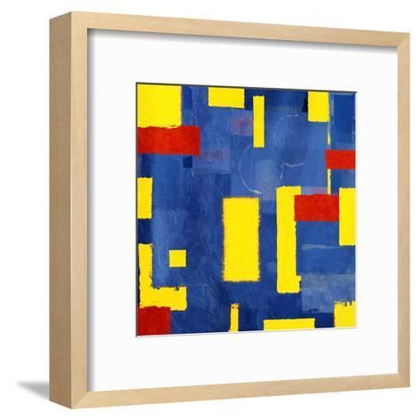 Pop Rectangular Abstract-Jace Grey-Framed Art Print