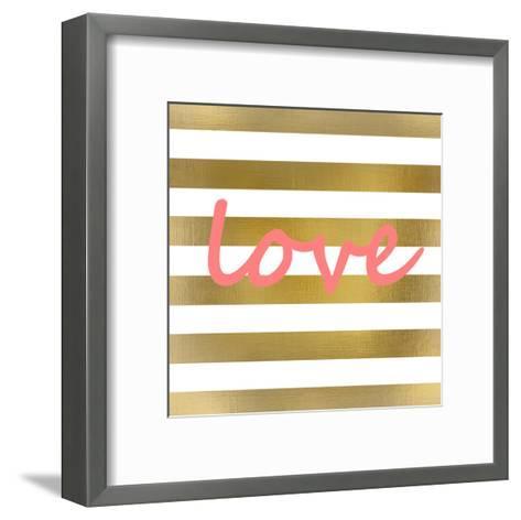 Pink And Gold Love-Kimberly Allen-Framed Art Print