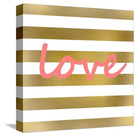 Pink And Gold Love-Kimberly Allen-Stretched Canvas Print
