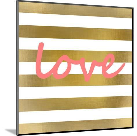 Pink And Gold Love-Kimberly Allen-Mounted Art Print