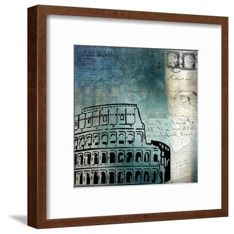 Roman Blue-Kimberly Allen-Framed Art Print