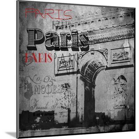 Paris Arc Victorian-Jace Grey-Mounted Art Print