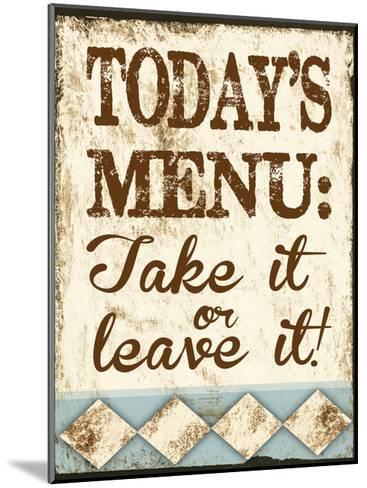Take It or Leave It-Melody Hogan-Mounted Art Print