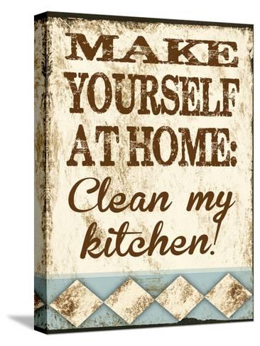 Clean My Kitchen-Melody Hogan-Stretched Canvas Print