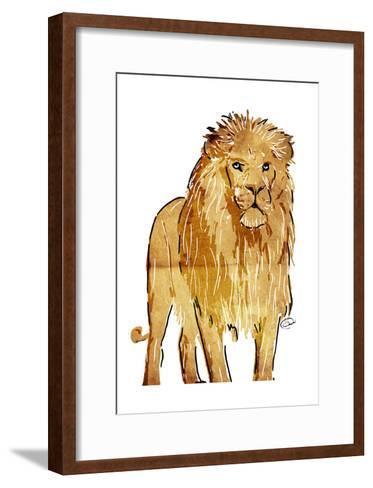 Golden Lion-OnRei-Framed Art Print