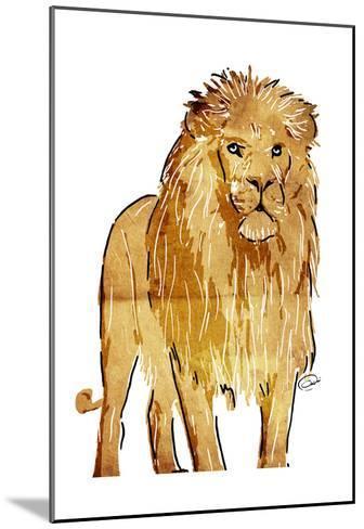 Golden Lion-OnRei-Mounted Art Print