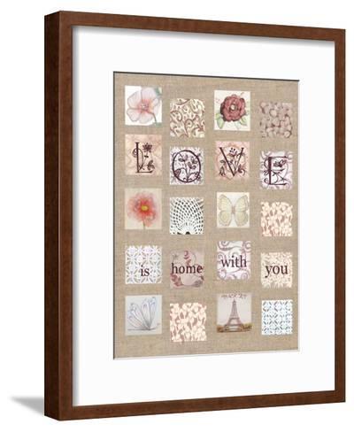 Love Tiles-Lorraine Rossi-Framed Art Print