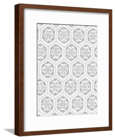 Geometric 3-Pam Varacek-Framed Art Print