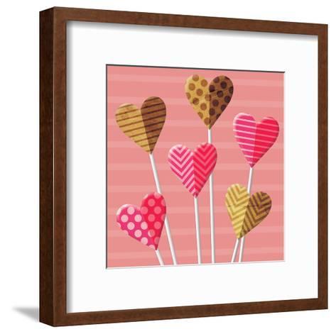 Heart Pops-Jace Grey-Framed Art Print