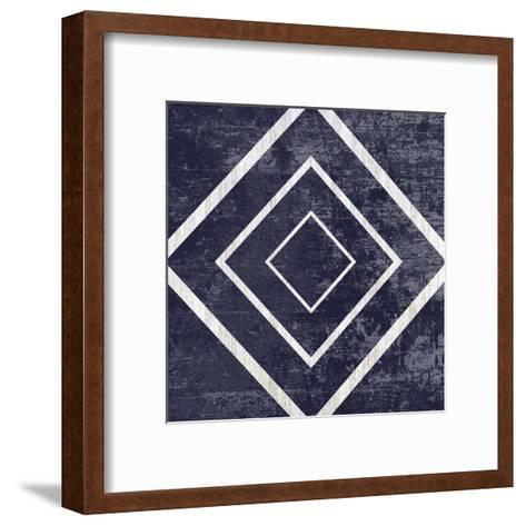 Indigo Geometrical Gem 5-Sheldon Lewis-Framed Art Print