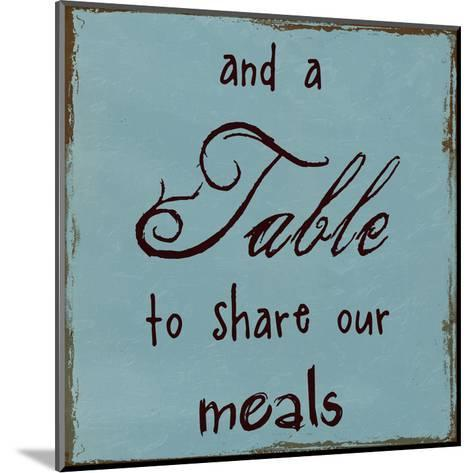 A Table To Share Our Meals-Sheldon Lewis-Mounted Art Print