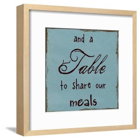 A Table To Share Our Meals-Sheldon Lewis-Framed Art Print