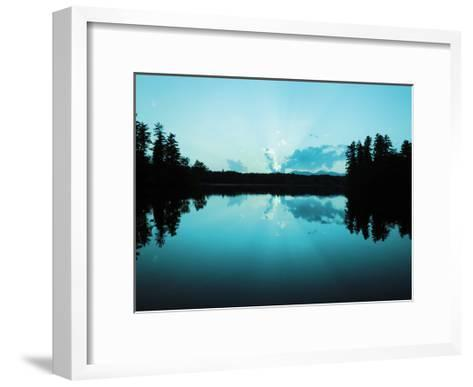 Sunset Lake Teal-Suzanne Foschino-Framed Art Print