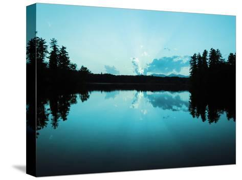 Sunset Lake Teal-Suzanne Foschino-Stretched Canvas Print