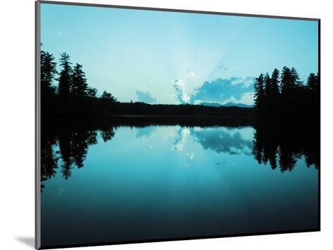 Sunset Lake Teal-Suzanne Foschino-Mounted Art Print