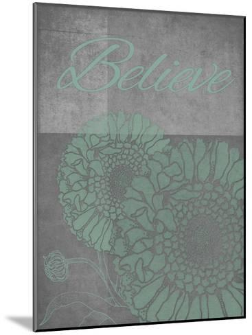 Floral Believe 4-Tina Carlson-Mounted Art Print