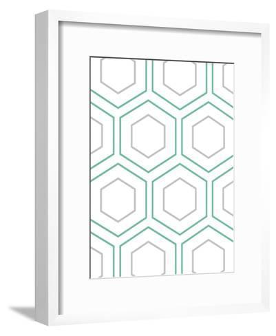 Geo In Teal-Sheldon Lewis-Framed Art Print